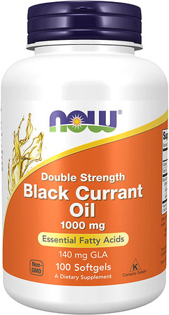 Now Black Currant Oil 1000mg bottle