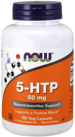 Now 5-HTP 50mg bottle