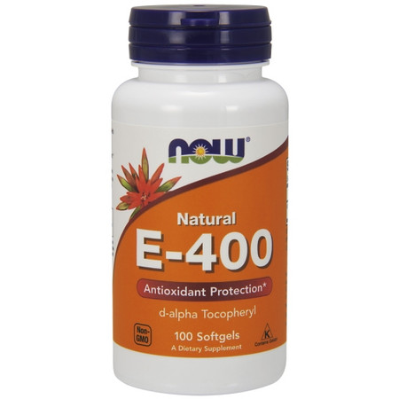 Now E-400 With D-Alpha Tocopheryl Bottle