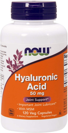 Now Hyaluronic Acid with MSM bottle