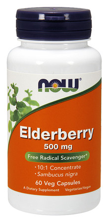 Now Elderberry 500 MG Bottle