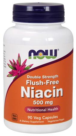 Now Flush-Free Niacin 500 mg Bottle