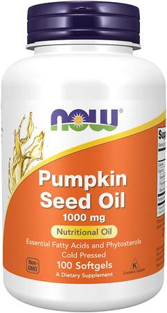 Now Pumpkin Seed Oil 1000 mg bottle