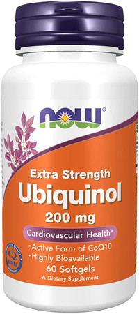 Now Ubiquinol Extra Strength 200 mg bottle