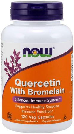 Now Quercetin With Bromelain Bottle