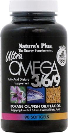 Nature's Plus Ultra Omega 3/6/9 Bottle