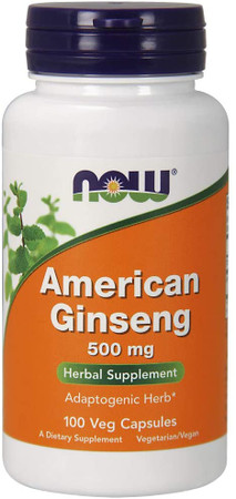 Now American Ginseng 500 MG bottle