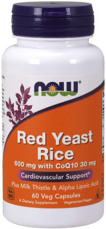 Now Red Yeast Rice With CoQ10 bottle