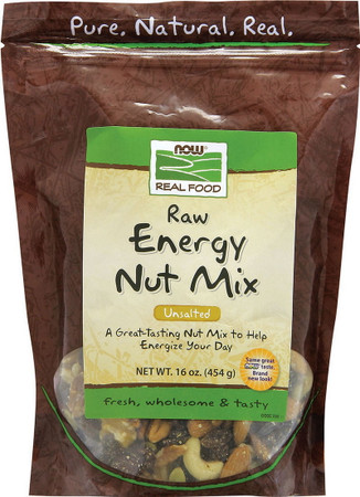 Now Unsalted Raw Energy Nut Mix Pack