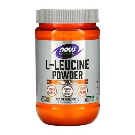 Now L-Leucine Powder Bottle