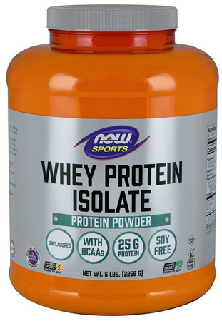 Now Whey Protein Isolate Bottle