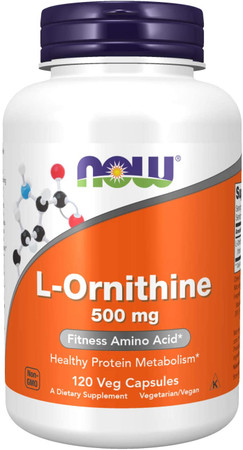 Now L-Ornithine 500 mg bottle