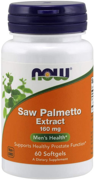 Now Saw Palmetto Extract 160mg bottle