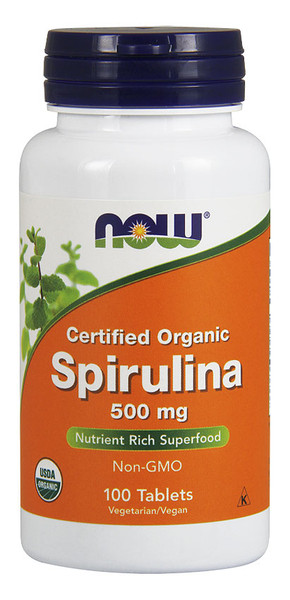 Now Spirulina 500 mg Bottle