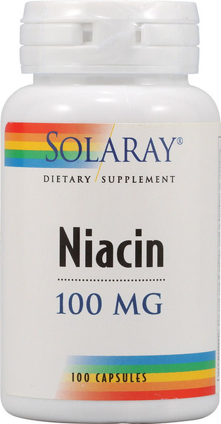 Solaray Niacin 100 mg Bottle