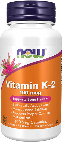 Now Vitamin K-2 100mcg bottle