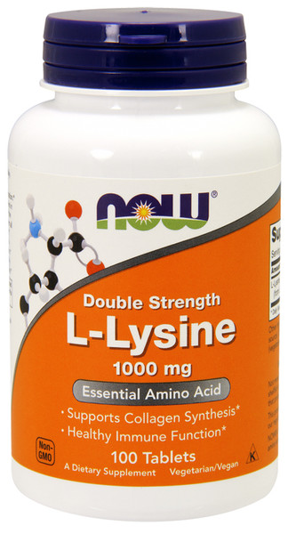 Now Double Strength L-Lysine 1000 MG Bottle