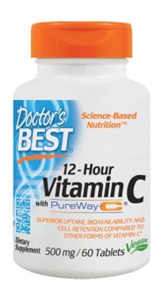 Doctor's Best 12-Hour Vitamin C 500 MG Bottle