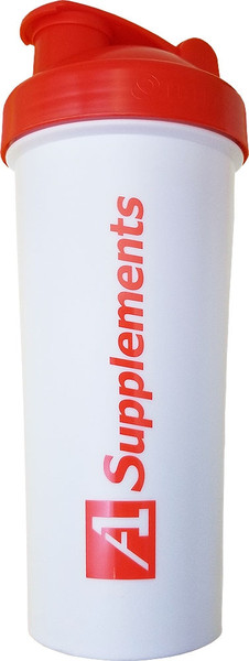 A1Supplements Fit Rider Shaker Cup White
