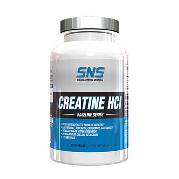 SNS Creatine HCI Capsules Bottle
