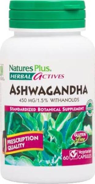 Nature's Plus Ashwagandha 450 MG Bottle