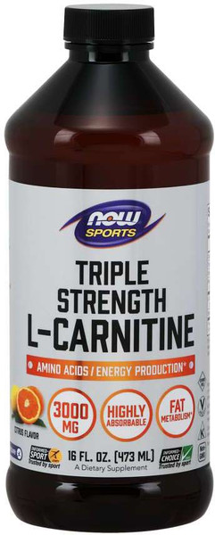 Now Triple Strength L-Carnitine Bottle