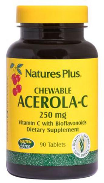 Natures Plus Chewable Acerola-C 250 MG Bottle