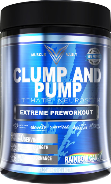 Muscle Vault Clump And Pump Bottle