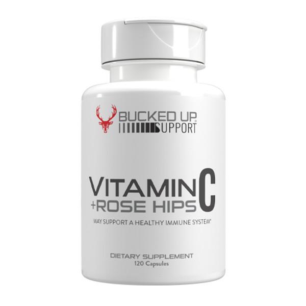 DAS Labs Bucked Up Vitamin C + Rose Hips Bottle