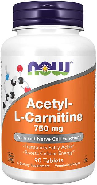 Now Acetyl-L-Carnitine 750 mg bottle