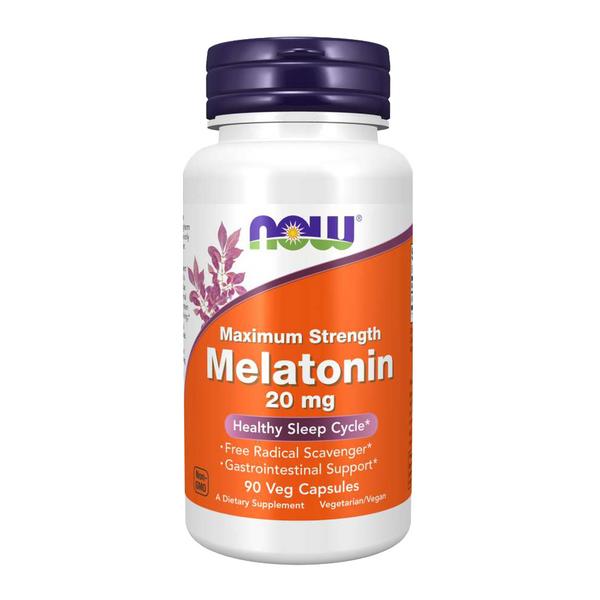 Now Maximum Strength Melatonin 20mg Bottle