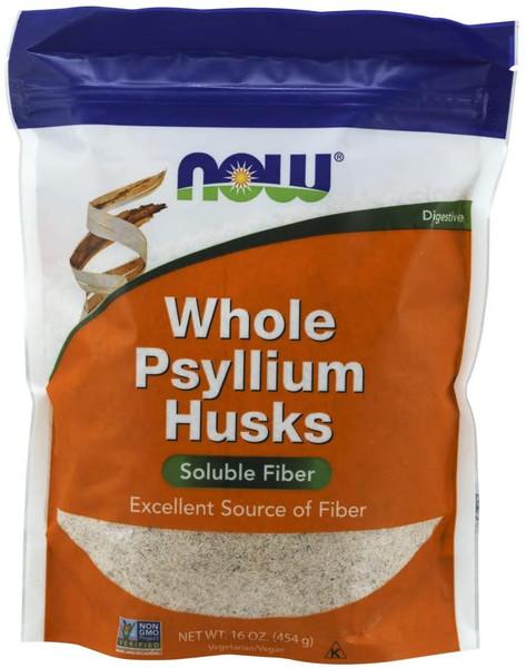 Now Psyllium Husks Whole Vegetarian pack