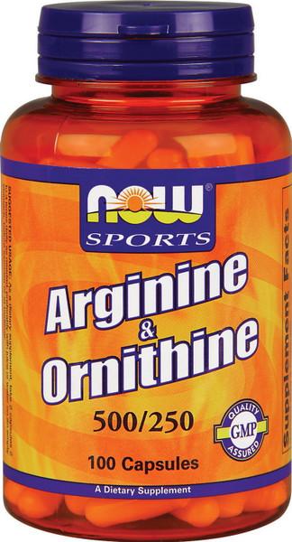 Now Arginine & Ornithine Bottle