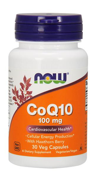 Now CoQ10 100 mg w/Hawthorn Berry Bottle