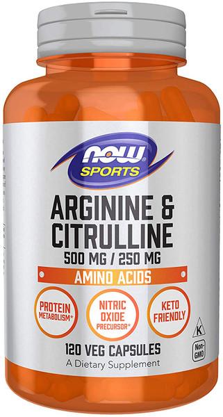 Now Arginine & Citrulline bottle