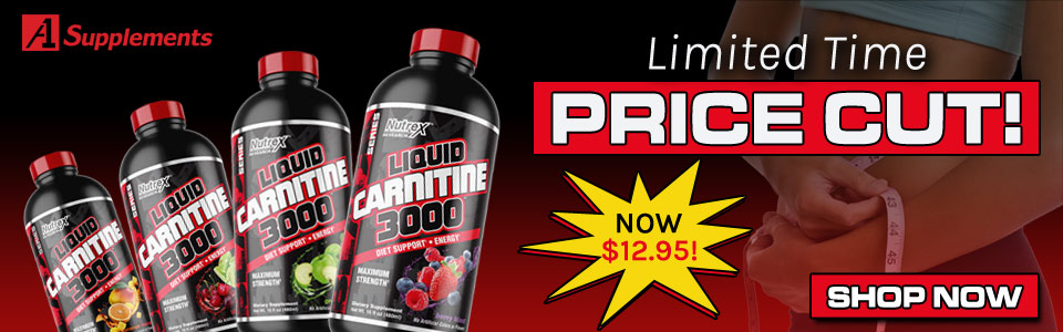 New Price Cut! Get Nutrex Research Liquid Carnitine 3000 Black - 16 oz for only $12.95!