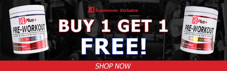 Buy 1 A1 Plus+ Pre-Workout - 30 Servings, Get 1 FREE!