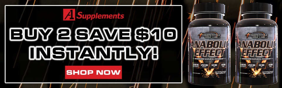 Buy 2 Competitive Edge Labs Anabolic Effect - 180 Capsules, Get $10 OFF!