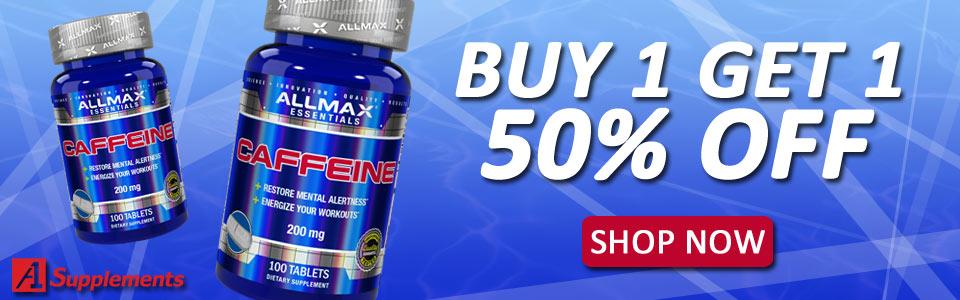 Buy 1 ALLMAX NUTRITION Caffeine - 200mg/100 Tablets, Get 1 50% OFF!