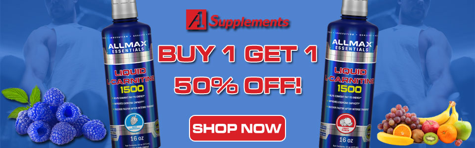 Buy 1 Allmax Nutrition Liquid L-Carnitine 1500, Get 1 50% OFF!