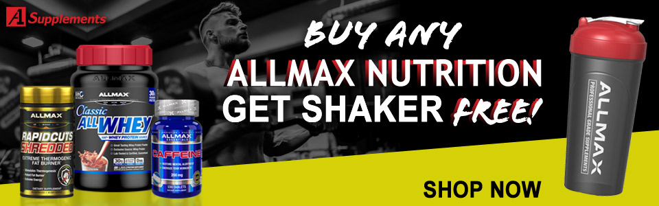 Buy Any ALLMAX Nutrition Product, Get Shaker FREE!