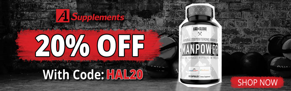 Get 20% OFF Axe And Sledge Manpower - 90 Capsules, When You Use Code HAL20!