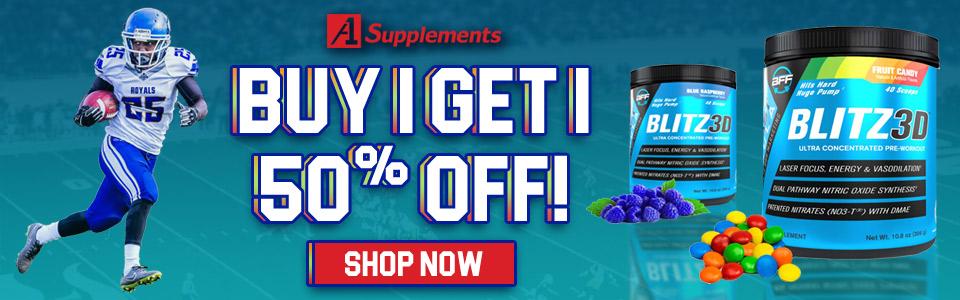 Buy 1 Build Fast Formula Blitz3D - 20 Servings, Get 1 50% OFF!