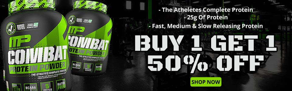 BUY 1 MusclePharm Combat Protein Powder - 2 lbs, Get 1 50% OFF!