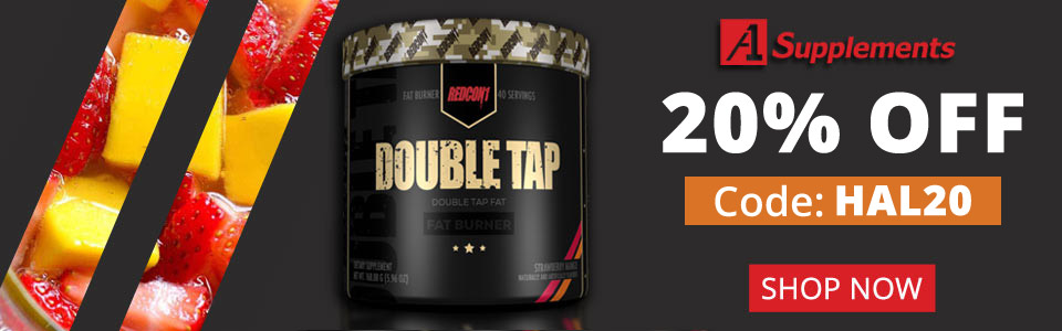 Use code HAL20 To Get 15% Off Redcon1 Double Tap Powder - 40 Servings!