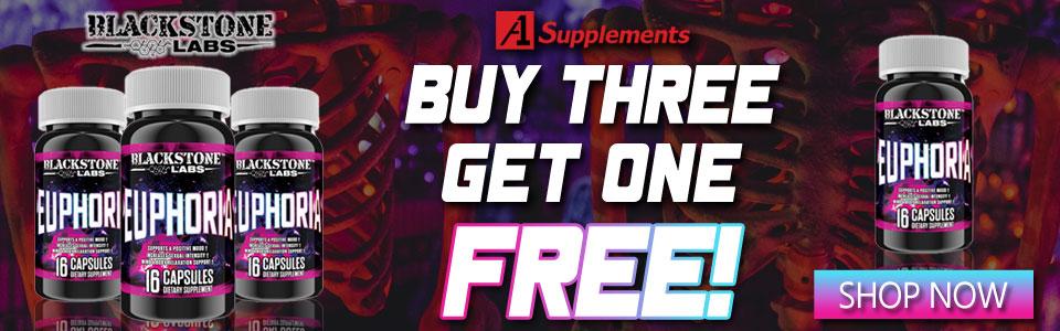 Buy 3 Blackstone Labs Euphoria - 16 Capsules, Get 1 FREE!