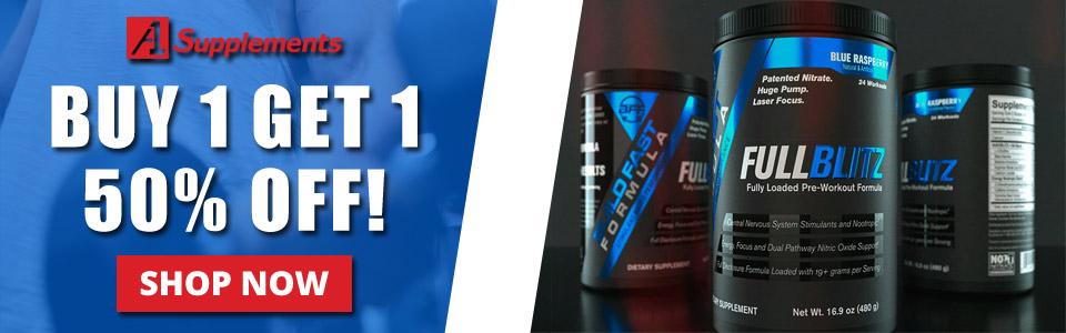 Buy 2 Build Fast Formula FULLBLITZ - 24 Servings, Get 1 50% OFF!