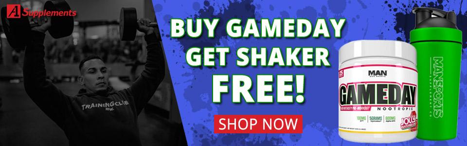 Buy GameDay,Get Metal Shaker FREE!