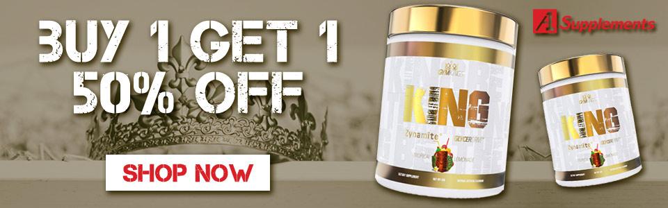 Buy 1 Gym Kings King Pre-Workout - 20 Servings, Get 1 50% OFF!