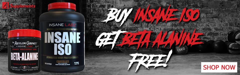 Buy 1 Insane Labz Insane ISO - 4lbs, Get Insane Beta Alanine FREE!
